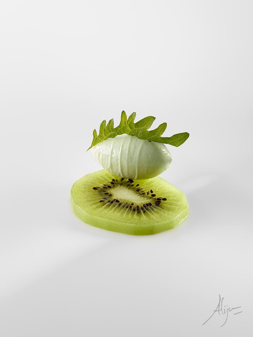Kiwi avec une glace au shiso