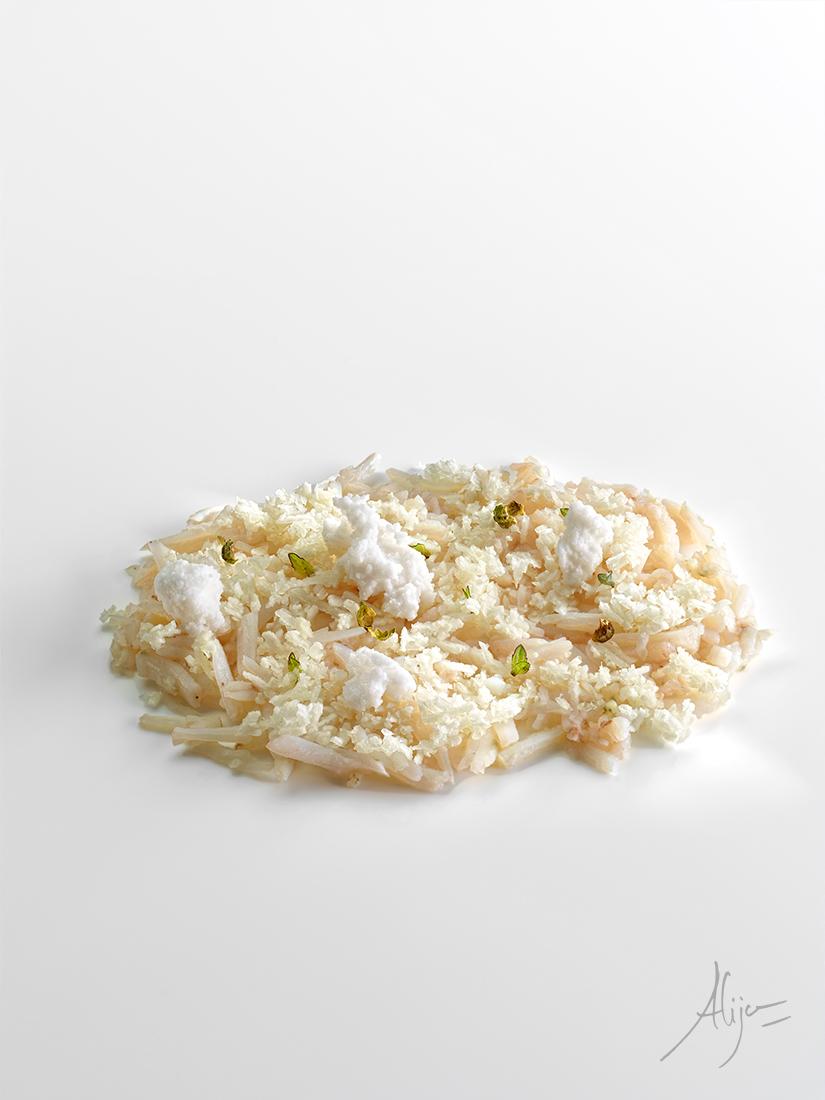 Araignée de mer, noix de coco et menthe gingembre